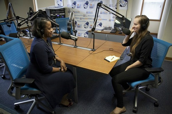 (Seated, L-R) District Attorney, Sherry Boston and Erica Hensley, Sagal Radio