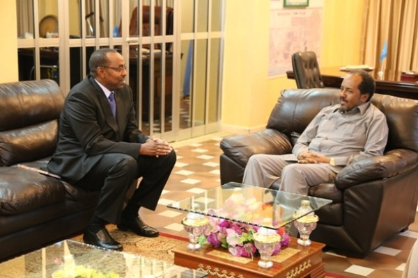 President welcomes new IGAD Special Envoy's support for Somalia