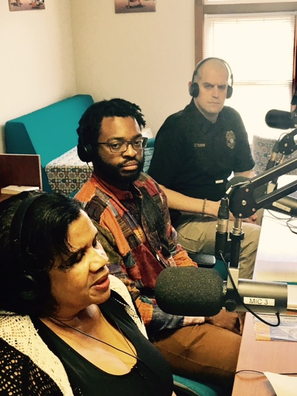 L-R, Guests Immigrations Attorney Shirley Reed, Jovan Julien with Project South and Lt. Harry Hess with the Clarkston Police Department