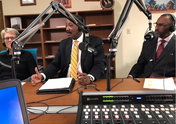 On the mics to discuss City of Clarkston and DeKalb County 2017 milestones, challenges and successes; and 2018 infrastructure projects, funding projections and city, county progression, (L-R) are DeKalb County Commissioner Kathie Gannon, DeKalb County Commissioner Steve Bradshaw and Clarkston City Manager, Keith Barker. Some of the specific topics discussed during this episode ofClarkston Speaksinclude, the financial state of Clarkston and DeKalb County, historic SPLOST passage, civic engagement and their vision for the future of Clarkston and DeKalb County.