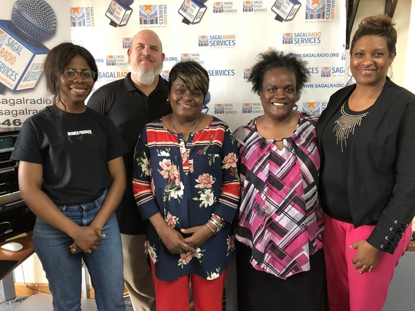 (L-R) Tomi Falegan, City Hope Community and Fest's Fun Zone sponsor and organizer, Adam Nykamp, 2019 Culture Fest Co-Chair, Marcia Coward, DeKalb County School District, Department of Parent and Family Engagement and Kim Ault, 2019 Culture Fest Co-Chair, join Guest Host Yvette Jones, Communications Director, Office of the DeKalb County District Attorney to discuss planning, organizing, partnerships and attractions at the 2019 Clarkston Culture Fest.