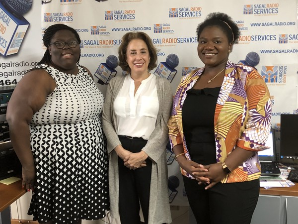 "(L-R), Councilwoman ""YT"" Bell sat down with Darlene Lynch, Head of External Relations and Licensed Psychologist/Team Lead, Adaobi Iheduru, both with the Center for Victims of Torture (CVT), to discuss mental health care, treatment, services and offerings.  Guests and host addressed general mental health issues and focused in on relevant treatment provided by CVT for asylum seekers and refugees who are torture, suffered in their birth country, survivors."