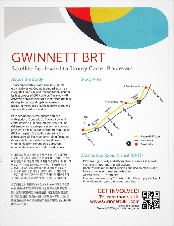 The Proposed GwinnettBRT Map